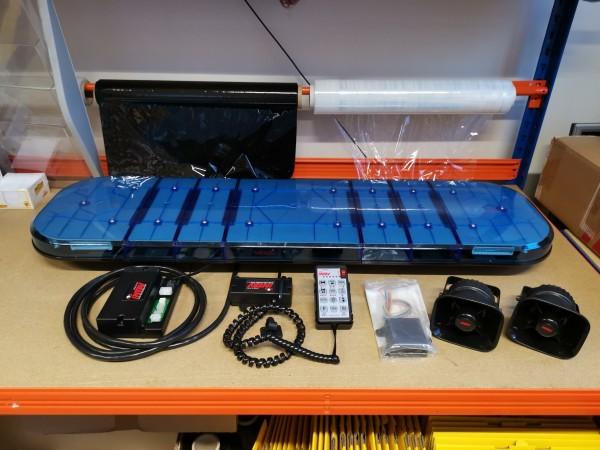 Komplettset INTAV LEPTOS LED Blaulichtbalken CAN BUS inkl. Sondersignalanlage und Steuerung